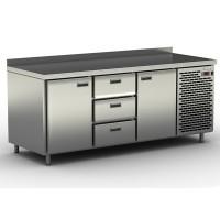 Столы холодильные / морозильные с узкими ящиками и дверьми СШН-3,2 GN-1850