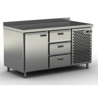 Столы холодильные / морозильные с узкими ящиками и дверью СШН-3,1-1400