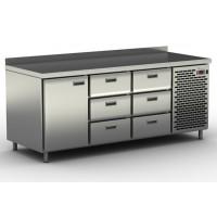 Столы холодильные / морозильные с узкими ящиками и дверью СШН-6,1 GN-1850