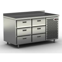 Столы холодильные / морозильные с узкими ящиками СШН-6,0-1400
