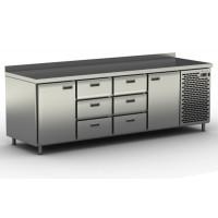 Столы холодильные / морозильные с узкими ящиками и дверьми СШС-6,2-2300